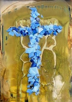 """Willow Tree Cross""  16x22""  mixed media....  heading to NOLA....  stunning...  she is hard to part with...."