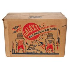 1950's Galaxy Shipping Box, $32, now featured on Fab.