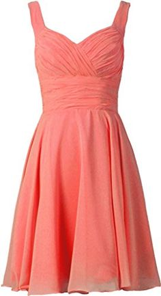 ANTS Women's V-neck Chiffon Bridesmaid Dresses Short Prom Gown Size 2 US Coral ANTS http://www.amazon.com/dp/B00Y2HO9L8/ref=cm_sw_r_pi_dp_j8E9vb1CW3F4W