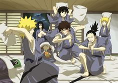 Naruto - Guys Slumber Party