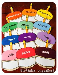 Primary French Immersion Resources: Birthday cupcakes!
