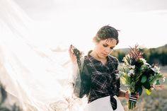 Plaid Bridal Style   KMitiska Photography on @rockymtnbride via @aislesociety