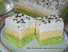 Kivi szelet Hungarian Cake, Hungarian Recipes, Homemade Cakes, Vanilla Cake, Cheesecake, Pie, Sweets, Cookies, Easy