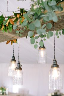 Rustic Wisconsin Backyard Wedding The perfect pair, this beer brewing bride and her cheese-maker groom put on a backyard affair complete with a band from Ireland. Beer Wedding, Wedding Day, Wedding Blog, Wedding Photos, Room Lights, Hanging Lights, Light Decorations, Wedding Decorations, Decoration Plante