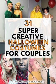 Need some college Halloween costume ideas couples this year?? Here's 31 trendy couples costumes to choose from! You will definitely love these couple Halloween costumes for you and bae! #Halloween #CouplesCostumes #Couples Easy Couples Costumes, Unique Couple Halloween Costumes, Popular Halloween Costumes, Funny Couple Halloween Costumes, Halloween Diy, Costume Ideas, College Parties, Promotion, Bae