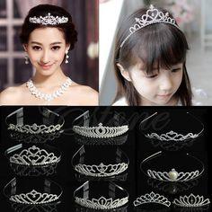 Wedding Bridal Comb Tiara Rhinestone Crystal Crown Pageant Prom Hair Headband #Headband