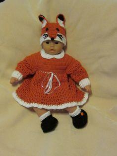 Little Baby Fox. Handmade Baby Girl Crochet by MagicalStrings
