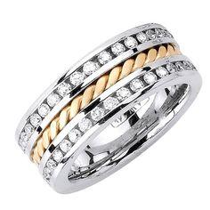 14K 2-TONE GOLD DIAMOND WEDDING BAND RING From Beverly Diamonds Price:$1,485.00 http://jewels411.com EZ