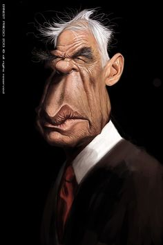 Caricatura de Lee Marvin.
