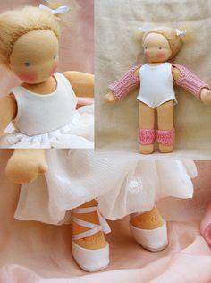Ballerina Waldorf doll 12 inch/ 30 cm by Puppula. $189.00, via Etsy.