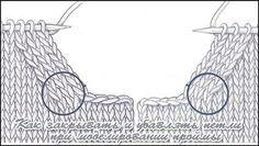 Как сделать красивую пройму в вязаном изделии