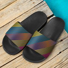 Party Lights On Slide Sandals – This is iT Original Party Lights, Pool Slides, Slide Sandals, Open Toe, Slip On, Footwear, Casual, Summer, Shoes