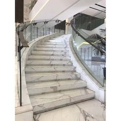 luxury Italy Statuario White Marble step stair - Stair and Steps Tiled Staircase, Tile Stairs, Flooring For Stairs, Staircases, Staircase Interior Design, Interior Stair Railing, Railing Design, Indian Bedroom Decor, Statuario Marble