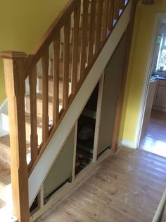 required Next up was to make the shelf. I wanted just enough room on the bottom Understairs Ideas bottom required room shelf wanted Stair Shelves, Staircase Storage, Stair Storage, Cupboard Storage, Diy Understairs Storage, Diy Storage Bed, Space Under Stairs, Under Stairs Cupboard, Mdf Skirting