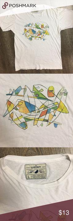 Wellen white t-shirt Wellen men's white Large t-shirt. Wellen Shirts Tees - Short Sleeve