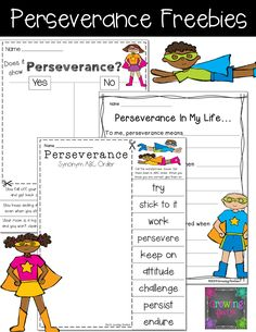 Perseverance - What's Under Your Cape? Superheroes of the Character Kind