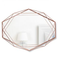 We love this contemporary geometric mirror from the Umbra Prisma collection. Fabulous geometric mirror made from copper coated metal. Part of the Umbra Prisma collection. Black Mirror, Copper Mirror, Metal Mirror, Wall Mounted Mirror, Copper Wire, Wall Mirrors, Mirror 3, Wall Mirror Ideas, Decorating Rooms