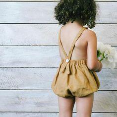 Soor Ploom Clothier - Oona romper in ochre / SS16