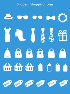 30 Shopping Icon shapes for your ecommerce designs. Shop Icon, Ecommerce, Shapes, Templates, Shopping, Design, Stencils, Vorlage