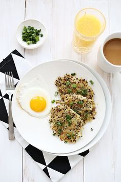 Quinoa Breakfast Hash Browns - A BEAUTIFUL MESS (try with sweet potatoes?)