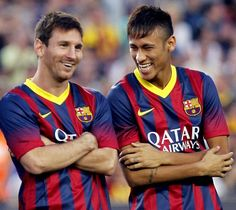 """""""Playing alongside Messi is a dream come true.Even just training with him makes me very happy."""" Neymar Jr pic.twitter.com/GuSF7y7JQr"""