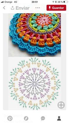 Crochet Pokeball - Crochet: Punto Piña # 3 - Love Crochet Crochet Pokeball - Crochet: Punto Piña # 3 - Love Crochet,Häkeln Crochet Christmas – How to für absolute Crochet Christmas – How to für absolute Motif Mandala Crochet, Crochet Circles, Crochet Motifs, Crochet Diagram, Crochet Chart, Crochet Squares, Love Crochet, Crochet Granny, Diy Crochet