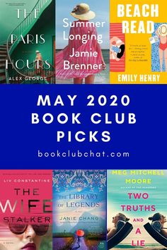 May is the start of summer reading season! Here's a list of the best book club picks for May Book Suggestions, Book Recommendations, Best Books To Read, Good Books, Book Club Questions, Beach Reading, Books For Teens, Classic Books, Fiction Books