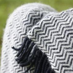 eco wool and organic cotton  www.klippan.be www.klippan.nl Tango wool throw - Klippan Yllefabrik