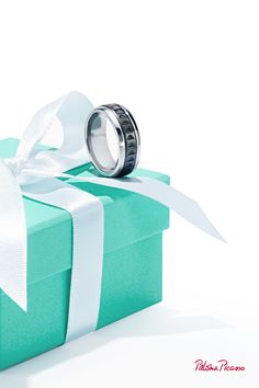 A Paloma's Caliper ring in stainless steel and titanium is strong and bold, just like dad.