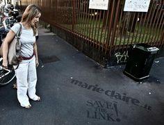 Reverse Graffiti, Marie Claire, Street Art, Natural, Illustrations, Nature, Au Natural