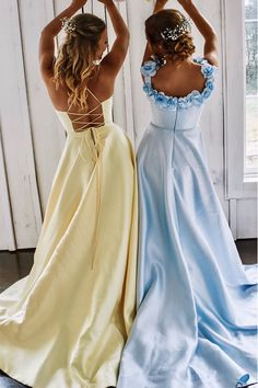 Places to visit Bescheiden A Line Long Yellow Prom Kleid - What To Look For W Pretty Prom Dresses, Hoco Dresses, Modest Dresses, Ball Dresses, Cute Dresses, Beautiful Dresses, Prom Dresses Pockets, Yellow Prom Dresses, Homecoming Dresses Long