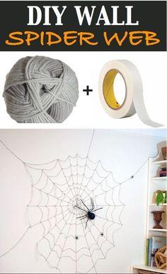 Make large spider webs with our twine: http://shop.officeworx.co.uk/storefront/Flexocare-Polypropylene-Twine-2.25-kg-White-76Pp4502-P-25948#.Vgkc6vlVhHw