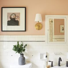 Love the Camilla Engman print in this gorgeous bathroom.