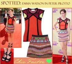 Emma Watson in Peter Pilotto| Peter Pilotto| Emma Watson Spotted | Chic Factor Gazette