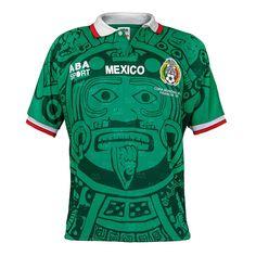 c139fbcd2 MEXICO 1998 Home FUSSBALL RETRO SOCCER JERSEY FOOTBALL SHIRT BNWT