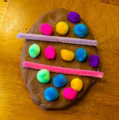 Easter Egg Chocolate Play Dough Activity - Love, Play, Learn
