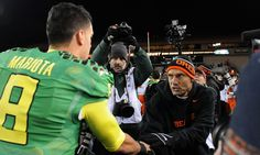 Mike Riley now has the tools to beat an old nemesis = One team closely watched the Oregon Duck football program's rise from good to elite.  Mike Riley's Oregon State Beavers were marketed as the blue-collar program in the state, and Oregon was the rich kid on the block who.....