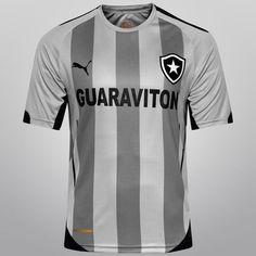 Camisa Puma Botafogo IV 2014 s nº - Cinza+Preto Botafogo e4b6e683f265e