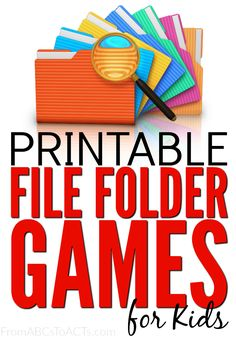 File folder games are so easy to put together and are a great way to review and practice concepts that your child is learning.