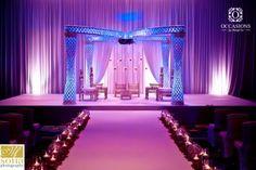 LOVE!  mini chandelier encrusted focal point - sparkle sparkle!