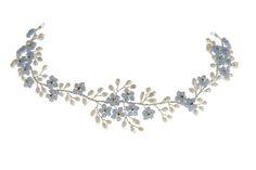 Hermione Harbutt Forget Me Not Headdress | #wild #flowers #wedding #meadow…