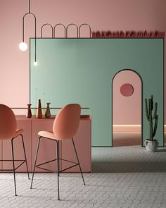 Be inspired by some of the best interior designs nature Versatile Dining Room Inspirations That Fit a Modern Decor Interior Desing, Cafe Interior, Best Interior, Interior Design Inspiration, Interior Architecture, Interior And Exterior, Pastel Interior, Interior Design Gallery, Colorful Interior Design