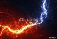 """Laden Sie das lizenzfreie Foto """"Fire and ice abstract lightning background"""" von Martin Capek zum günstigen Preis auf Fotolia.com herunter. Stöbern Sie in unserer Bilddatenbank und finden Sie schnell das perfekte Stockfoto für Ihr Marketing-Projekt!"""