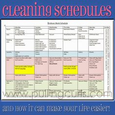 a printable house cleaning schedule and tips on how i incorporate it into my day
