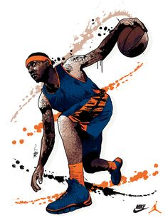 Carmelo Anthony - Mitchy Bwoy for Nike / Jordan