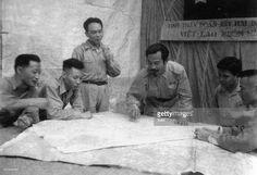 Battle of Diem Bien Phu 1954-Dien Bien Phu , Vietminh HQ. Prince Xu-Pha-Nu-Vong, Laos resistance leader exchanged views with General Vo Nguyen Giap to cooprdinate in Viet-Laos battlefield.