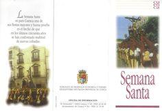 Folleto turístico de la Semana Santa de Cuenca, plano de recorridos y puntos de interés. Patronato de Desarrollo Provincial de Cuenca, 1997. #Cuenca #Turismo #SemanaSanta