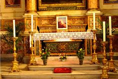 Tomb of St. Monica in church of St. Augustine in Rome, Italy