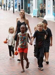 Angelina Jolie and kids