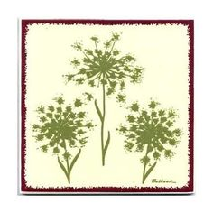 Queen Anne's Lace for Wall Plaque Kitchen by BesheerArtTile